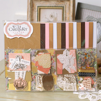 DIY Card Kit Kids Greeting Card Kits 15 Cards Scrapbooking Vintage Cardmaking Supplies