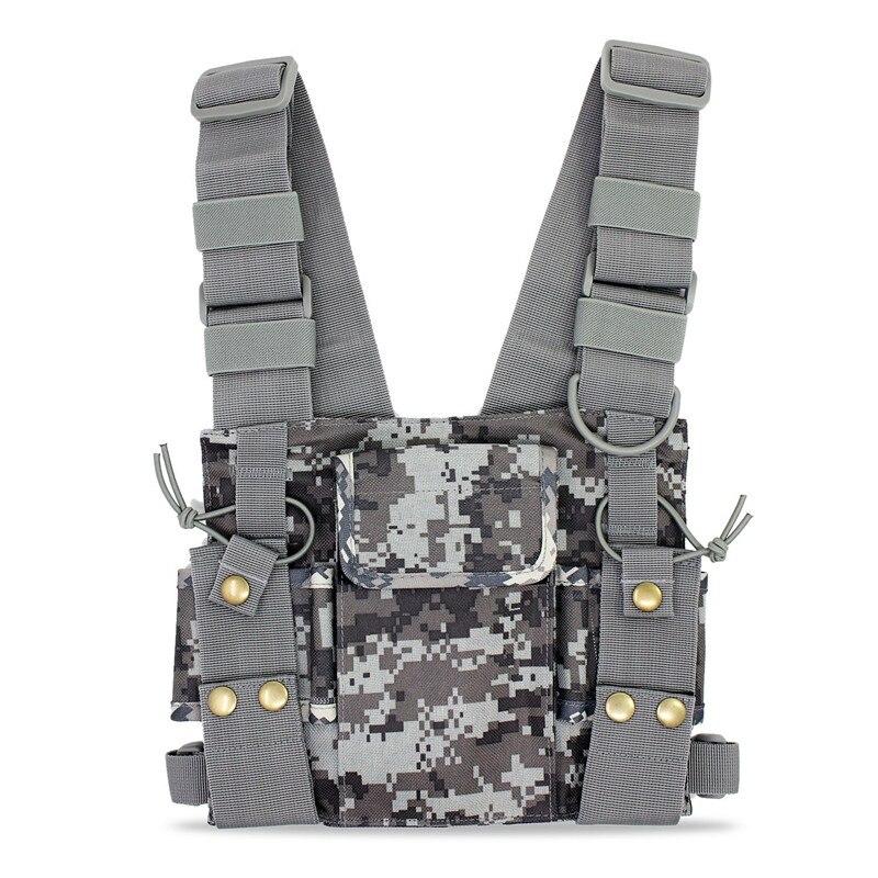 CS Tactiques Poitrine Harnais Avant Pack Pochette Étui Gilet Rig pour Baofeng UV-5R UV-82 888 S Radio Talkie Walkie Sauvetage Essentials