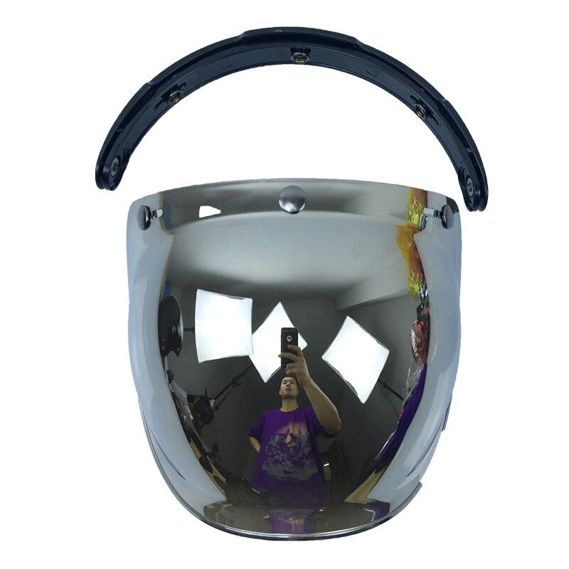 Viseira bolha qualidade abrir rosto capacete da motocicleta viseira 10 uni tamanho cor disponível capacete pára escudo do vintage