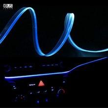 JURUS 1 метр автомобилей Ambient light ночь автомобиля руководство Подсветка салона атмосфера огни мягкие ремонт светодиодные полосы волоконно-оптические лампы