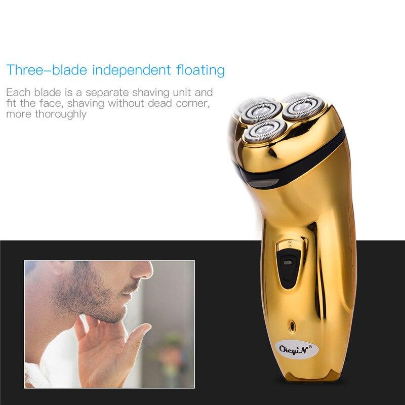 110-220V Rechargeable Electric Shaver 3D Triple Floating Blade Heads Shaving Razors Face Care Men Beard Trimmer Barber Machine42