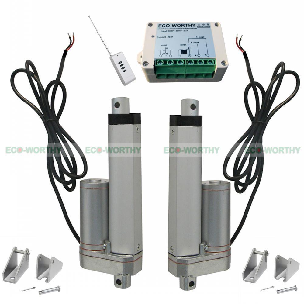 2pcs 4 12V DC Multi Linear Actuator W/ Remote Control 330 Lbs Max Pound
