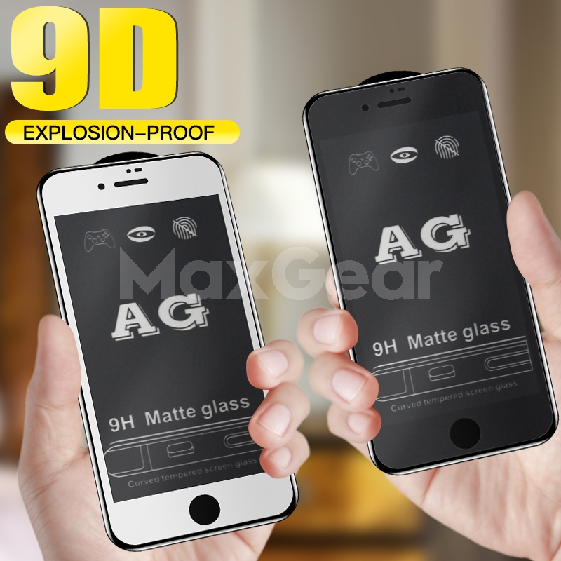 9H 9D Matte Frosted Full Cover AG Tempered Glass Screen Protector For IPhone X XS 11 Pro MAX XR 8 7 6S 6 Plus Anti-fingerprint