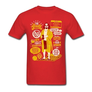 Image 3 - Поп Dude БОЛЬШОЙ ЛЕБОВСКИ футболка атмосферу футболка Для мужчин хлопок размера плюс короткий рукав пользовательские Забавные футболки