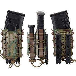 Image 2 - TMC Mag etui 5.56mm 7.62mm karabin magazynek etui Molle Tactical Airsoft 9mm uchwyt pistoletu TMC Poly Carrier polowanie polimer