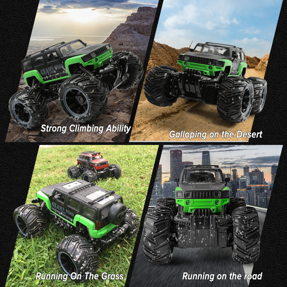Image 2 - RC Car 2.4G Scale Rock Crawler Remote Control Car Supersonic Monster Truck Off Road Vehicle Buggy xmas gifts for kids-in RC Cars from Toys & Hobbies