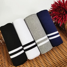 Stretchy Stripes Cuffs Rib Fabric Cotton Knitted for neckline winter jacket,Clothing accessories