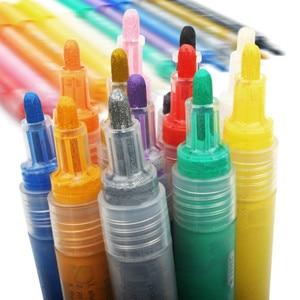 Image 2 - 24Color Permanent Acrylic Marker Pen, Highlighter Waterproof Hand DIY Paint Marker Pen For For Art Design School Supplies