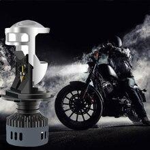QIPO Luci Auto H4 Del motociclo Del LED Faro della lampada 3000 K 6500 K Bianco Giallo mini lente del proiettore Automoblies Lampadina Hi /Lo Fascio 12 V