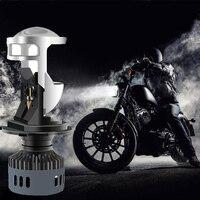 QIPO Car Lights H4 LED Headlight motorcycle lamp 3000K 6500K White Yellow mini projector lens Automoblies Bulb Hi/Lo Beam 12V