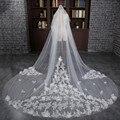 2016 One-Layer White/ Ivory Wonderful Pretty Applique Edge Long Wedding Veil Bridal Veils Wedding Accessories Wedding Veils
