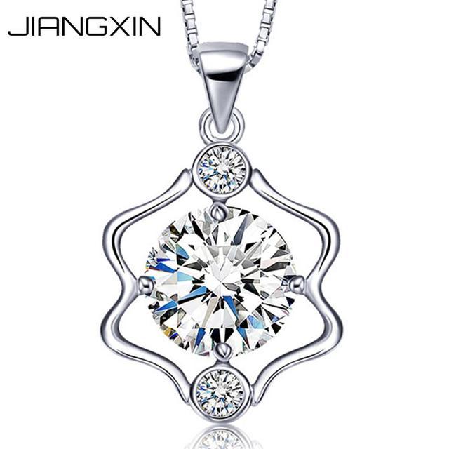 JiangXin 12 Constellation 925 Sterling Silver Dazzling Rhinestone Diamond Pendant Necklace for Girls Birthday Gift mcj7ofaui