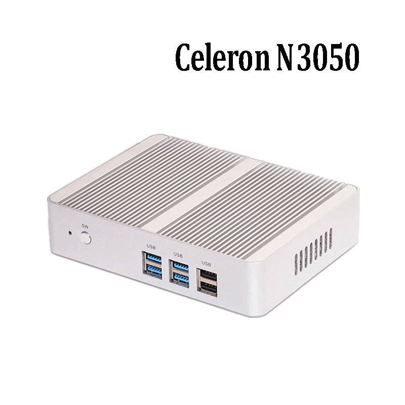 Cheapest price fanless desktop computer Intel Celeron N3050 Dual Core, HDMI, LAN Mini PC Support windows 7/8/10 linux Desktop pc wholesale price lga775 intel g31 chipset ddr2 desktop motherboard mainboard computer core 2 duo pentium 4 pentium d celeron