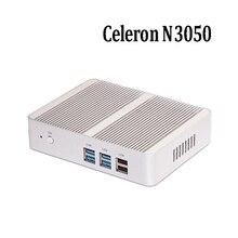 Самые дешевые цены n3050 безвентиляторный настольный компьютер intel celeron dual core, HDMI, lan mini pc поддержка windows 7/8/10 linux desktop pc