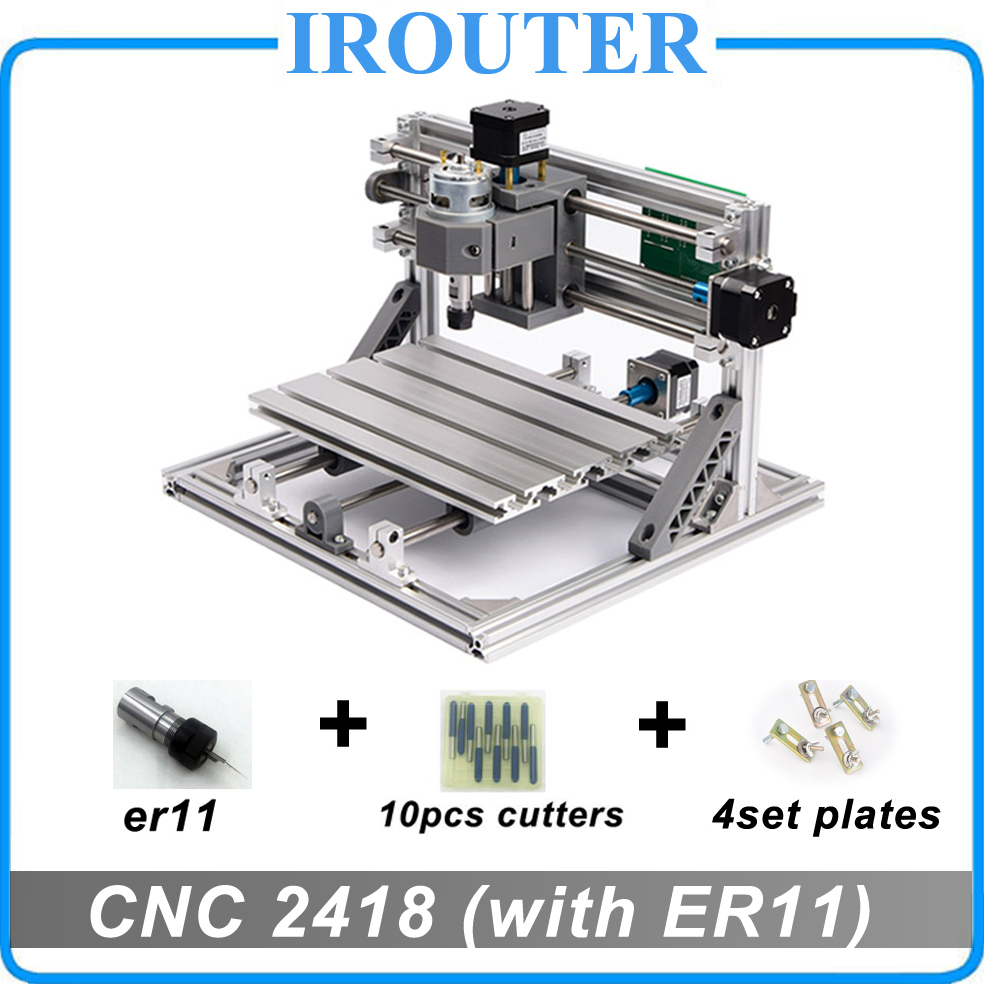CNC 2418 with ER11 diy mini cnc laser engraving machine Pcb Milling Machine Wood Carving router