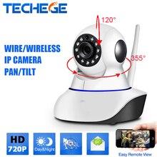 Беспроводная ip-камера PTZ 360 вращения Smart security wifi HD720P 1.0MP cctv камера ночного видения Motion Обнаружения радионяня