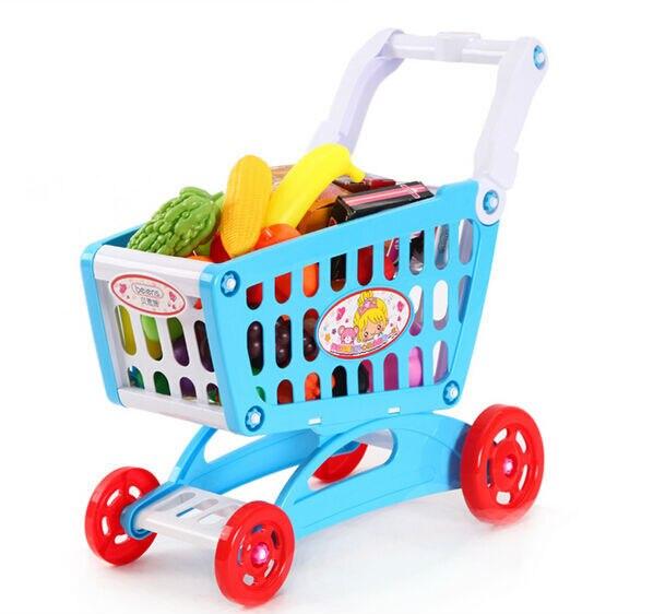 beiens child shopping cart supermarket trolley shopping basket toy food vegetables plastic. Black Bedroom Furniture Sets. Home Design Ideas