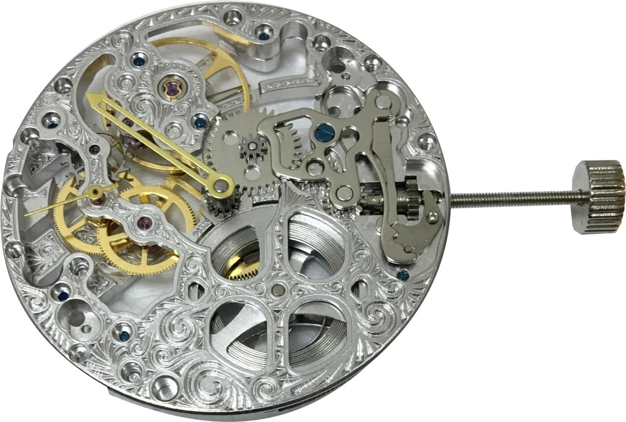 โคลนunitas 6497โครงกระดูกนาฬิกาเคลื่อนไหว-ใน เครื่องมือและชุดซ่อม จาก นาฬิกาข้อมือ บน   1
