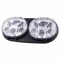 5 3/4 5.75 '' chrome LED Headlight Led Headlight High/Low Bulbs Motorcycle Dual LED Headlights