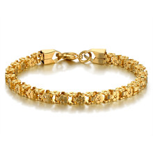 Fashion Female Bracelet Stainless Steel Bike Chain Link Bracelets for Women 2018 Gold Color Braslet Woman Jewelry(China)