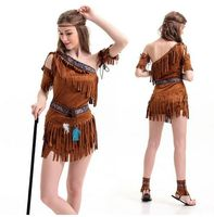 Ladies Native American Indian Wild West Fancy Dress Party Costume Adult Sexy Halloween Party Princess Cosplay