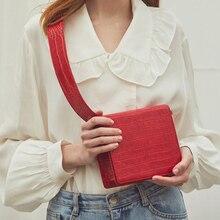 Pu Leather Crocodile Crossbody Bag Women Solid Color Shoulder Bags Fashion Simple Handbag Summer New Small Flap Bag Phone Purse