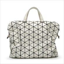 2016 New Women Fashion Laser BAOBAO Bag Geometry Package Sequins Saser Plain Folding Handbags briefcase Shoulder Bags Women bag