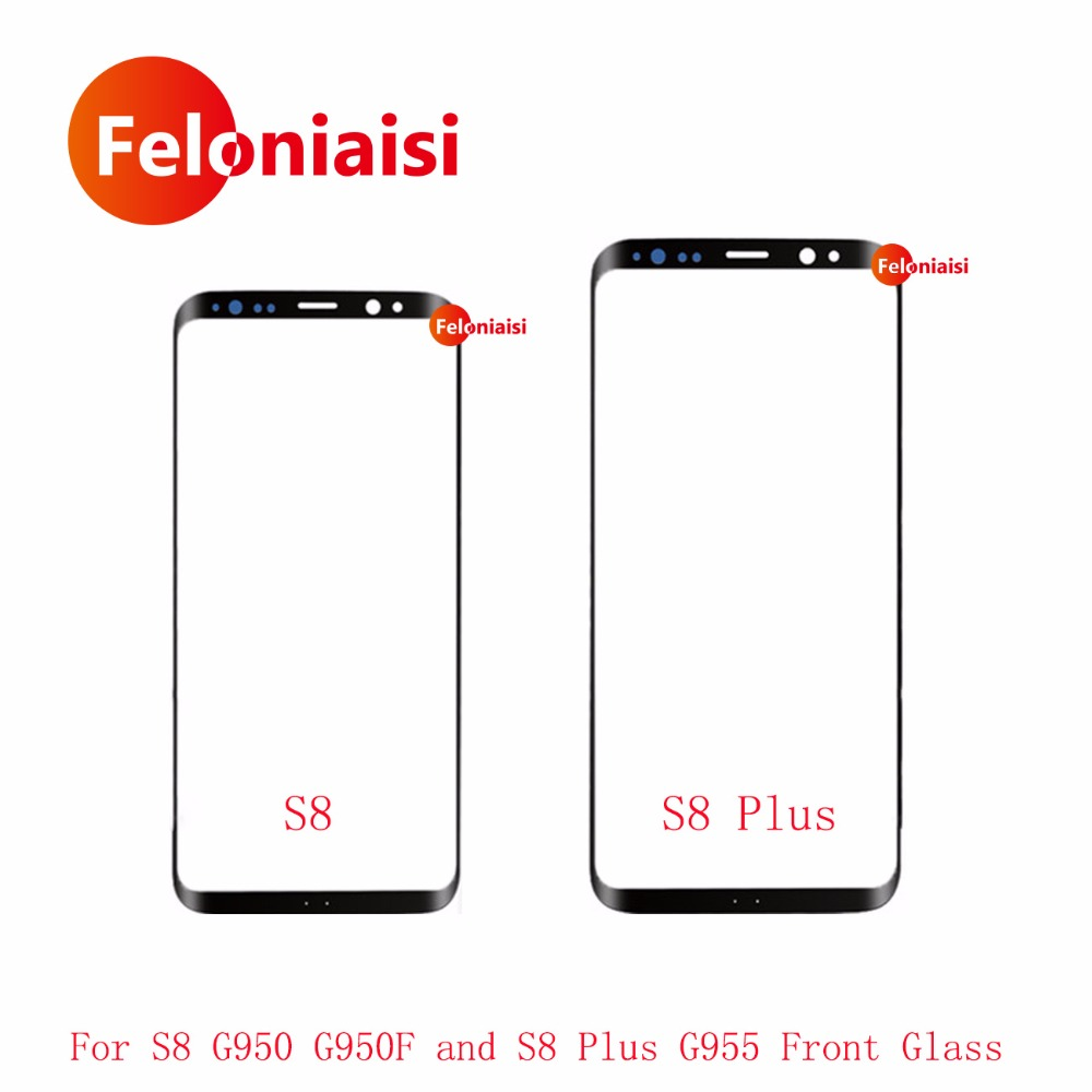 High Quality For Samsung Galaxy S8 G950 G950F G9500 5.8 / S8+S8 Plus G955 G9550 6.2 Front Outer Glass Lens Touch Screen Panel