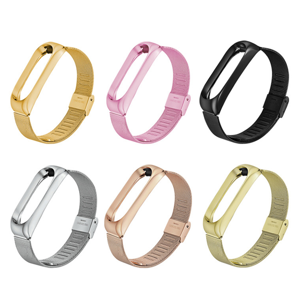 For Mi Band 3 Wrist Strap Tainless Steel Silcone MetalWatch Smart Bracelet Not For Xiaomi Miband 4 Belt Replaceable Watch Strap