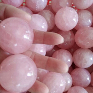 Healing Crystal Natural Pink Rose Quartz Gemstone Ball Divination Sphere Collection 20mm Wedding Decor(China)