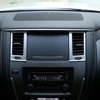 Para nissan patrol 2017 2018 abs interior do carro ar condicionado ac saída de ventilação capa quadro guarnição protetor estilo do carro acessório|Estilo de cromo| |  -