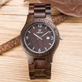 Unique Vogue  wood watch Men Dual Time Mens watches 2016 top luxury brand UWOOD Wristwatch Water Resistant Trendy Luminous Watch