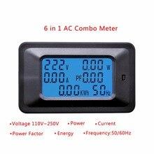 20A/100A AC lcd цифровая панель мощность Ватт метр монитор напряжение кВт-ч вольтметр Амперметр тестер инструменты