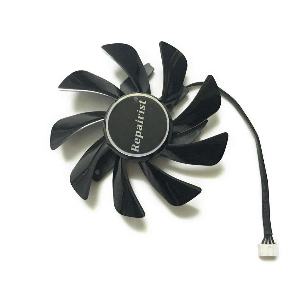 Sapphire R9-370 GPU Cooler Video Cards fan for Radeon Sapphire R9 370 1024SP 4G/2G V2 OC graphics Card Cooling original gpu veineda graphics cards hd6450 2gb ddr3 hdmi graphic video card pci express for ati radeon gaming