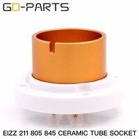 GD PARTS 2PCS High Quality 4 PIN Ceramic Jumbo Bayonet Valve Base Tube Socket For 845