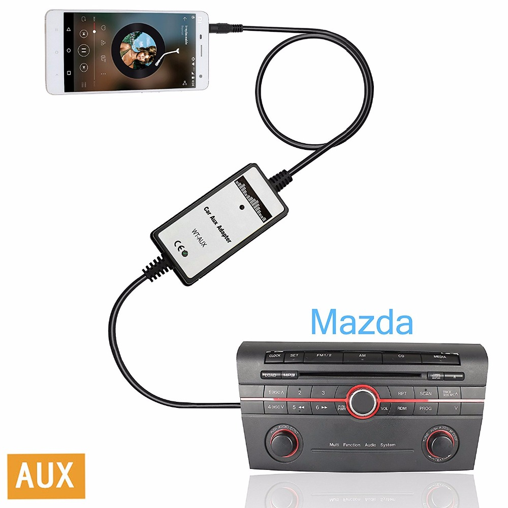 Car Stereo Aux Adapter Auxiliary Input Mp3 Interface For: Car Radio 3.5mm AUX Audio Input Adapter Auxiliary Jack Mp3