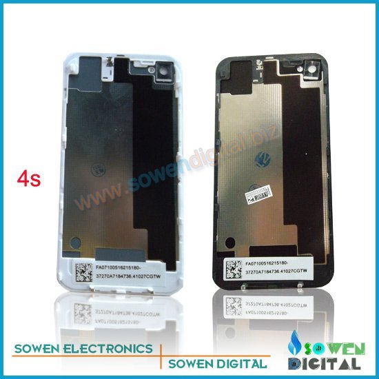 Back cover assembly for iphone 4s back housing, ,Black or white 100% good quality