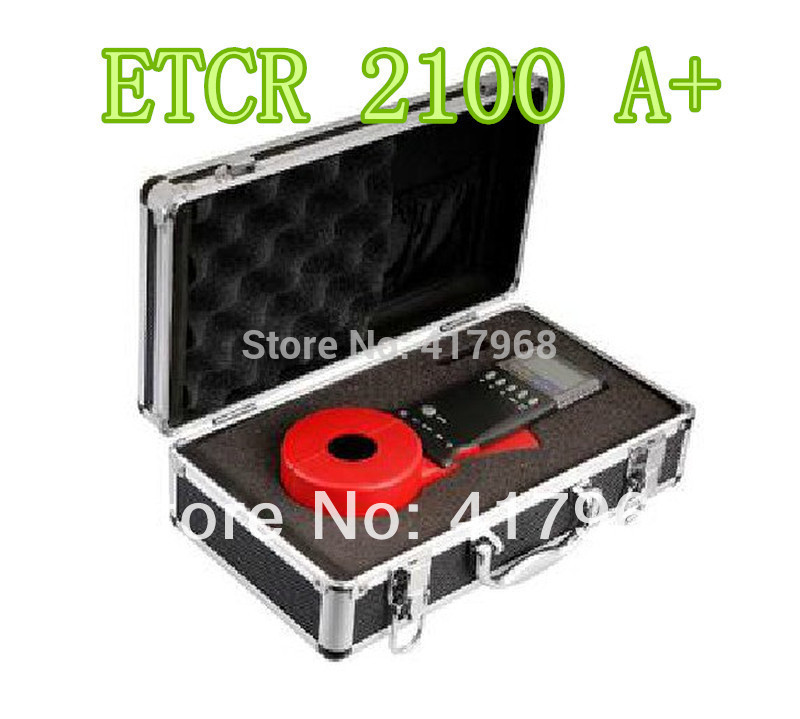 ETCR2100A + Pince Sur Le Sol de La Terre Testeur de Résistance Compteur