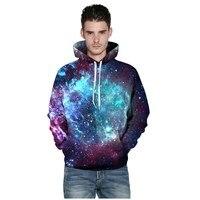 Erkekler Unisex Yeni Moda Galaxy Bulutsusu 3D Baskı Hoodies Sweatshirt Ince Cep Paisley Hoodie Çok Renkli Harajuku Tişörtü Cas