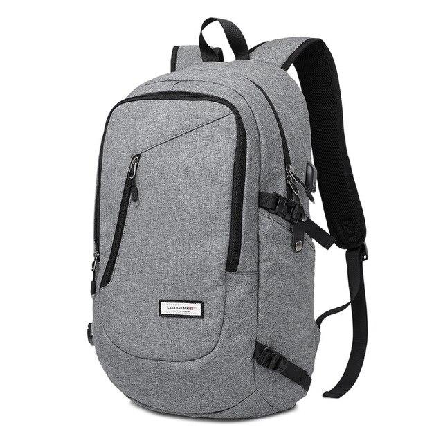 Men and Women Laptop Backpack 15.6 17 Inch Rucksack SchooL Bag Travel Waterproof Backpack Male Notebook Computer Bag Black Gray