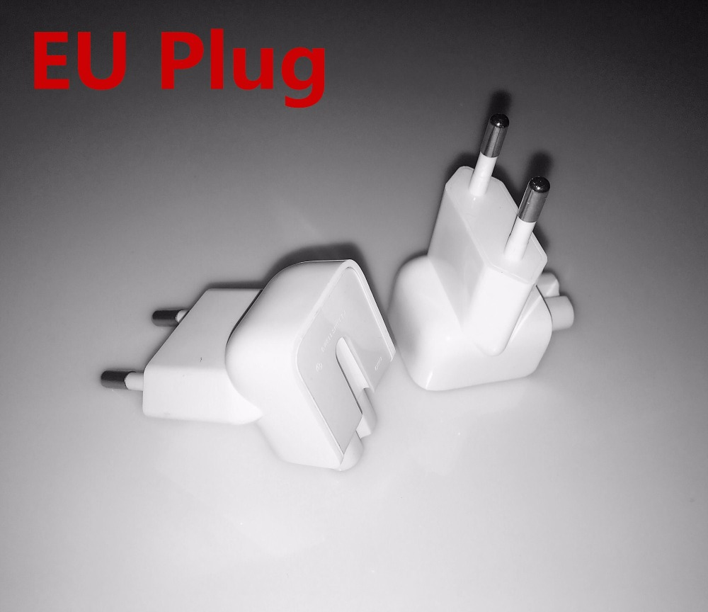YCJOYZW-Wall AC Detachable Electrical Euro EU Plug Duck Head for Apple iPad iPhone USB Charger MacBook Power Adapter