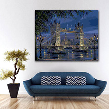 DIY colorings pictures by numbers with colors Great view of the big city bridge picture drawing painting by numbers framed Home salzburg зальцбург city pocket the big five