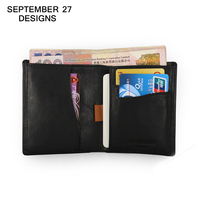 Designer Brand 2016 Cowhide Leather Men Standard Wallets Mini Wallet Bifold Design Purses Receipt Credit Card