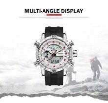 WEIDE Luxury Silicone strap Watch Sport Men Digital Quartz LCD Analog Watches Water Resistant Electronics Alarm Clock saat 6902