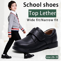 Kalupao Children kids boys Shoes genuine leather Shoes black autumn Boys School Uniform Dress Shoes Casual Oxfords Wide Fit