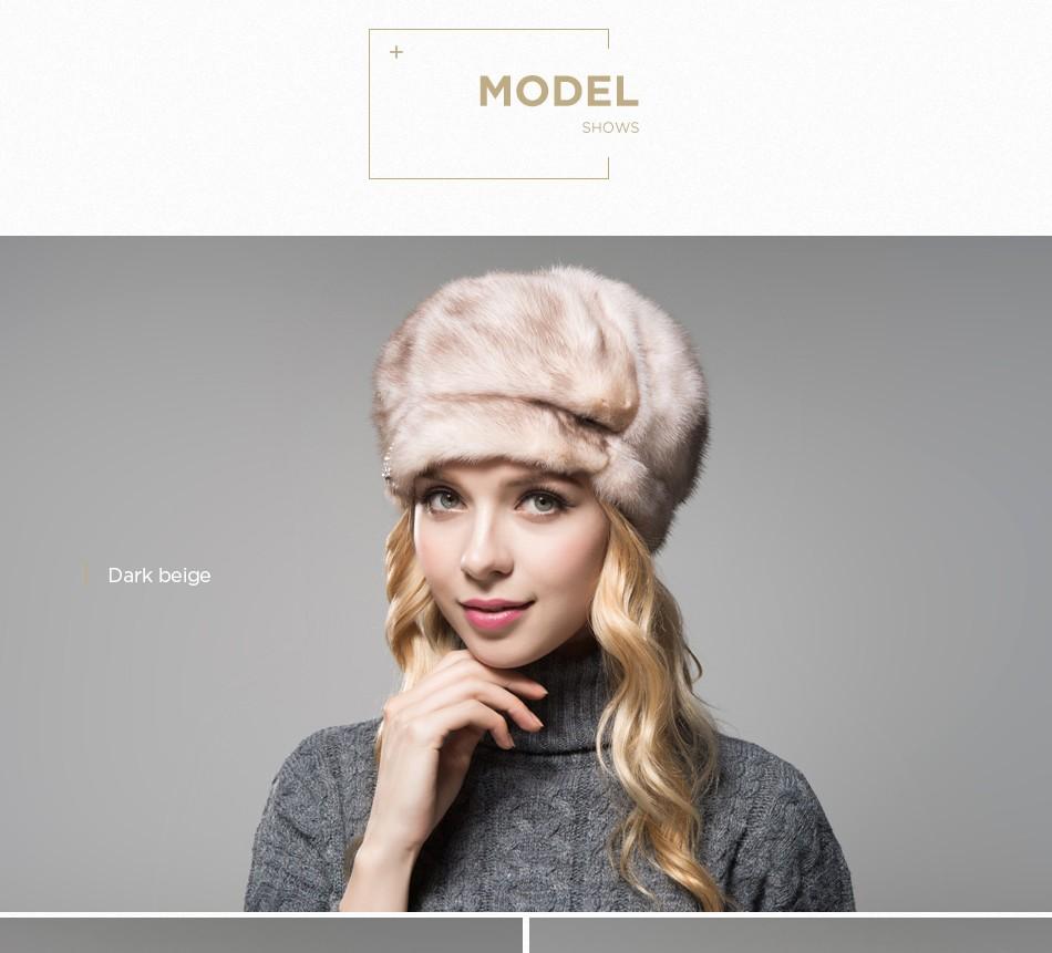 mink fur hat female winter PCM027 (9)