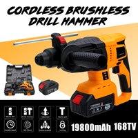 110V 240V 800W Electric Cordless Hammer Impact Drill Professional Hammer Drill Brushless Motor Hammer Drill For Home Improvement