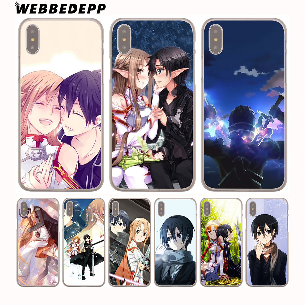 Half-wrapped Case Steady Webbedepp Sword Art Online Sao Japanese Anime Hard Phone Case For Iphone X Xs Max Xr 7 8 6s Plus 5 5s Se 5c 4 4s Cover