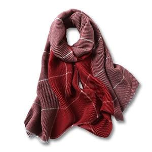 Image 4 - 2020 Winter Scarf for Women Fashion Plaid Fold Cashmere Scarves Neck Warm Thick Shawl Wrap Lady Pashmina Bandana Female Foulard