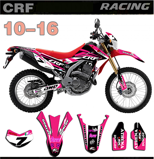 For Honda CRF250L CRF 250 L 2010 2011 2012 2013 2014 2015 2016 Motorcycle Full Stickers DIY Customizable Personality Decals